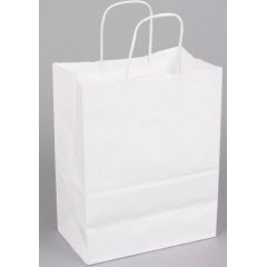 Tempo White Paper-Twist Handle Shopping Bag (250 ct.) 84598