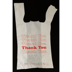 "1/6 White ""Thank You"" QuickMate-EZ® T-Sack 15mic 12""x7""x22"""