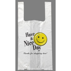 "Large White ""Happy Face"" RollMate® T-Sak 12mic 11""x6.5""x22"""