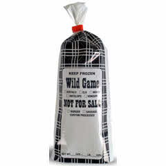 ULTRASOURCE 1lb Black Plaid 2 mil Wild Game Meat/Chub Bag
