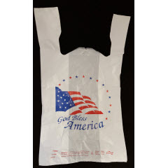 "1/6 White ""God Bless America"" QuickMate-EZ®T-Sack 13mic 11""x6.5""x21"""