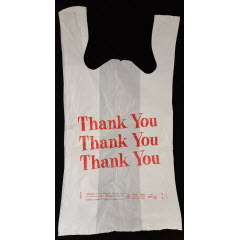 "1/6 White Thank You"" QuickMate-EZ® T-Sack 13mic 11.5""x6.5""x22"""