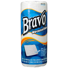 BRAVO Necessities White 2-Ply Household Roll Towels 85 SHT/Roll 18350
