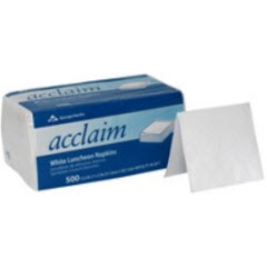 1-Ply GP Acclaim® White 1/4 Fold Luncheon Napkins (12/500ct) 37707