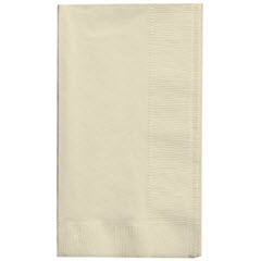 Creative Converting® 2-Ply Ivory Dinner Napkin, 1/8 Fold 279161