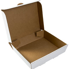 Half Pan White Corrugated Catering Box 13x11x3 CCBHP13113