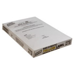 16x24 27# Yellow Label Bak-O-Matic® Silicone GPS Pan Liner 1000ct. 27S