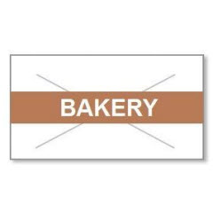 """Bakery' Tamper Proof White Label Brown Ink, 9000 ct 2216-07160"