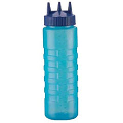 24oz. Vollrath Blue Tri Tip Wide Mouth Squeeze Bottle 3324C-44