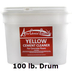 Arrow Chemical® Yellow Cement Floor Cleaner 100 lb. Drum 226