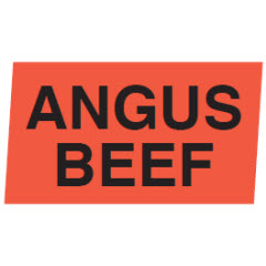 """Angus Beef"" Red Dayglo Label JA5124"