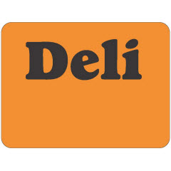 """Deli"" Red Dayglo Label JF5270"