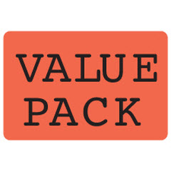 """Value Pack"" Large Red Dayglo Label JF5111"
