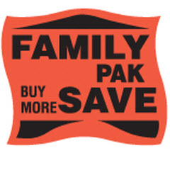 """Family Pak Buy More Save"" Banner Dayglo Label JF5167"