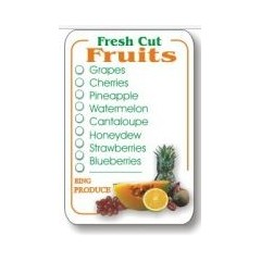 """Fresh Cut Fruits"" Check-Off Label B764"