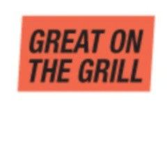 """Great on the Grill"" Red Dayglo Label A196"