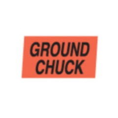 """Ground Chuck"" Small Red Dayglo Label A131"