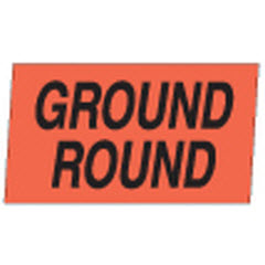 """Ground Round"" Small Red Dayglo Label A130"