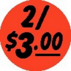 2/$3.00 Red Dayglo label CR5-265
