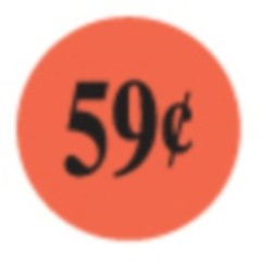 .59¢ Red Dayglo Label CR5-16