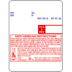 Digi DPS-6000/DPS-6048 (60mmx80mm) UPC, Safe Handling Scale Labels