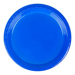 "7"" Cobalt Blue Plastic Lunch Plate (240ct) 28314711"