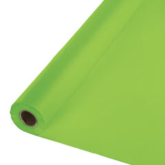 "40""x100' Fresh Lime Plastic Tablecover Roll 763123"