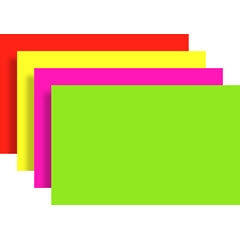 "7""x11"" Large Ultra Glow Blanks - Fluorescent Rainbow 100ct. 3102-RNB"