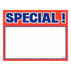 "5.5""x7"" Special! Print - White Sign Card with Red/Blue 100ct. 2032"