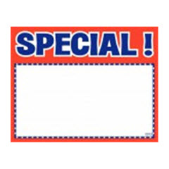 "3.5""x5.5"" Special! Print - White Sign Card with Red/Blue 100ct. 2022"