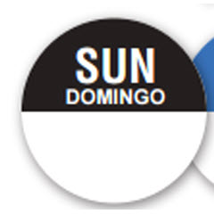 "1""x1"" Sunday Bilingual Label CR-SUN"