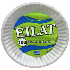 "6"" Eilat Uncoated Paper Plate 10/100ct. 726"